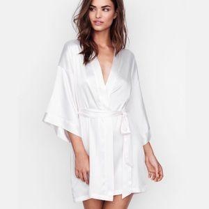 Victoria's Secret Bride White Satin Robe